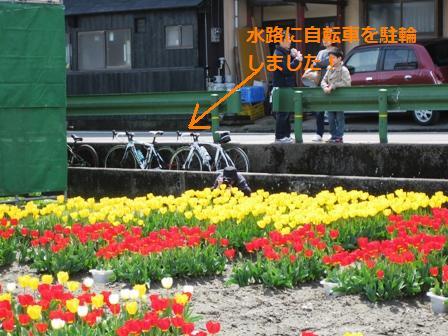 blog_自転車を水路に停める180410