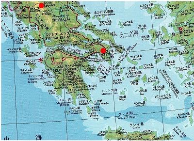 ギリシャ地図3049