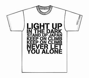 KOCPチャリティーTシャツ詳細1。