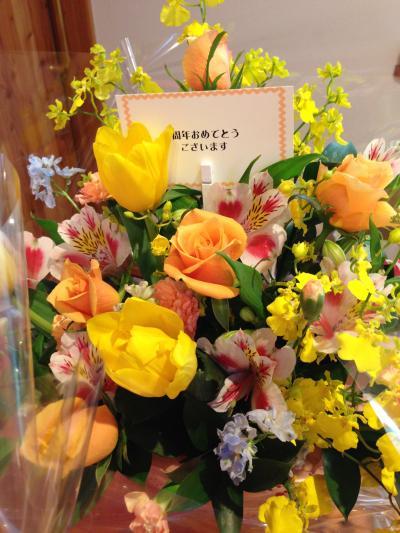 3周年記念お花