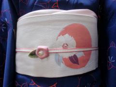 椿コーデ帯