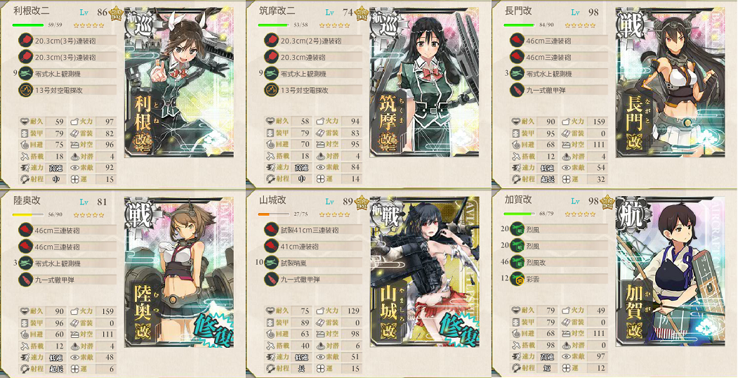 E4第一艦隊装備
