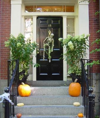 ボストン かぼちゃの玄関