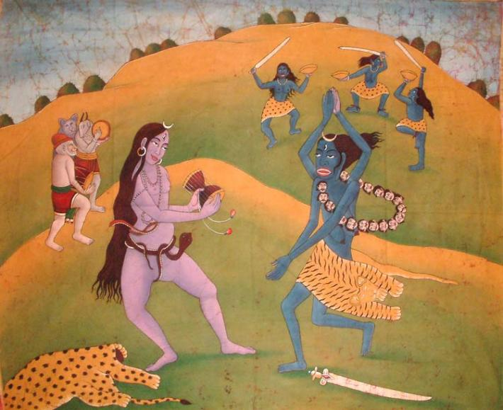dance of shiva  kali