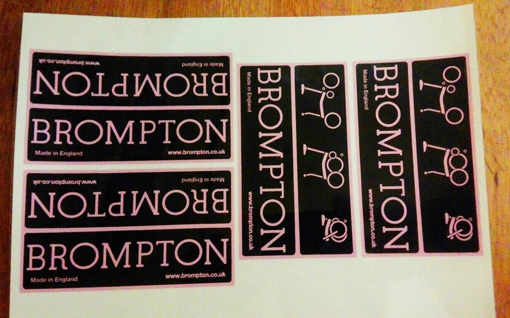 brompton ブラック×ピンク ステッカー