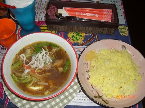 角煮・スープ&ライス大盛