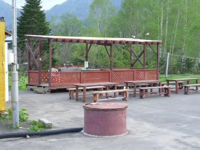 オートキャンプ場炊事場