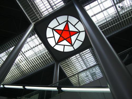 天井の星型