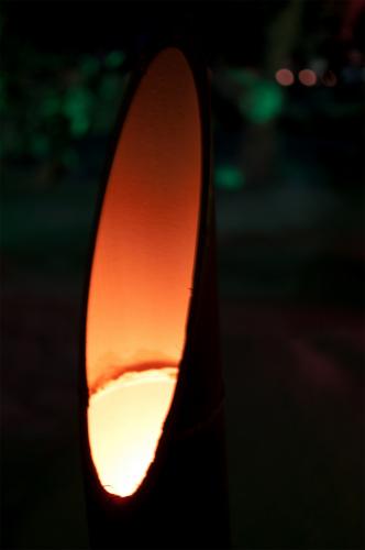 竹ランタン