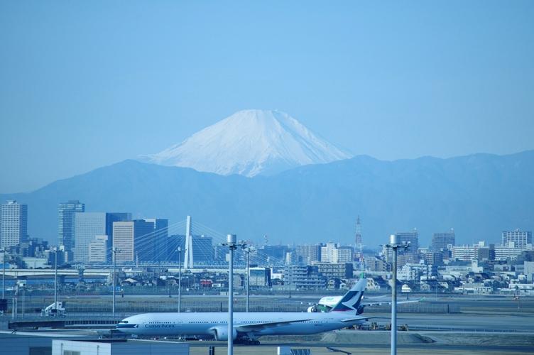 羽田から富士山3