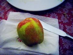六日目夜りんご