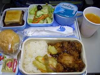 帰り機内食夜