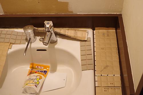 トイレの洗面台DIY