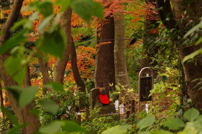 紅葉とお地蔵さん