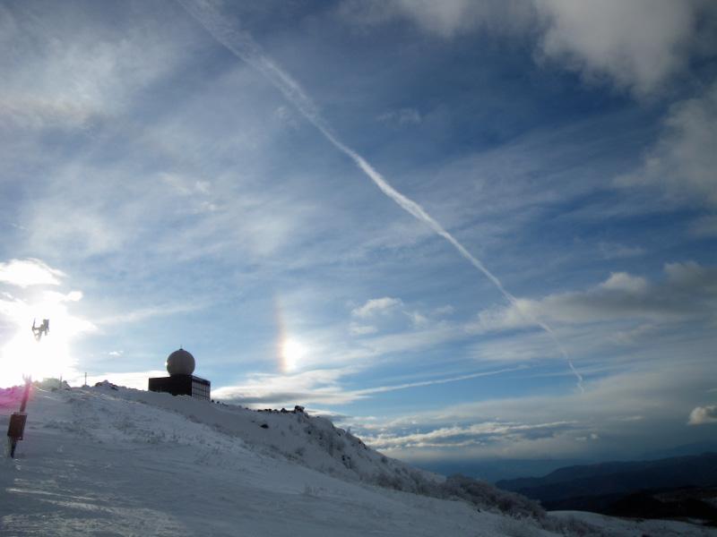 スキー場の空
