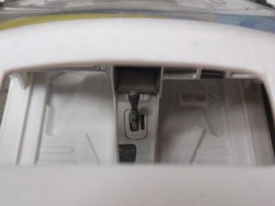 フロアコンソールの修正、見えます。