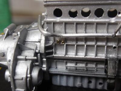 エンジン組み立て パイプ妥協