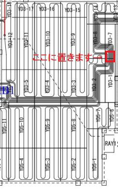 床暖房配管図面