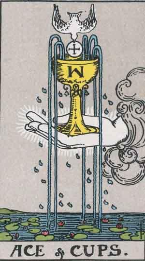 タロットカード聖杯のエースtarwca