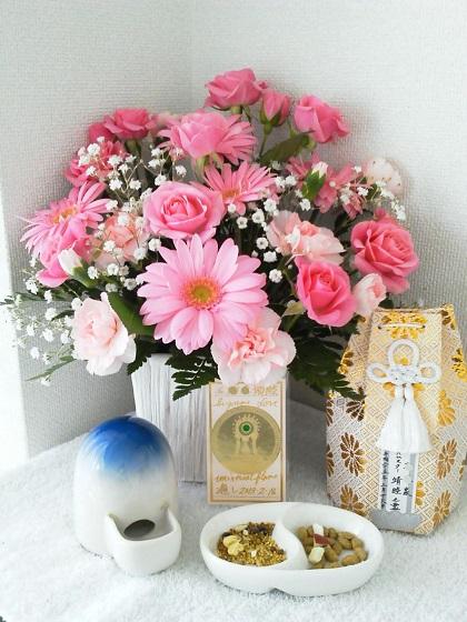 チカちゃんにお花が届きました20130320