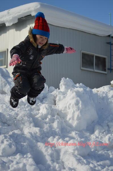 雪遊び開始!