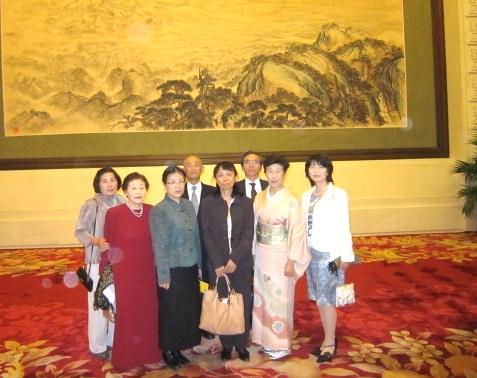 人民大会堂で・富山県の参加者