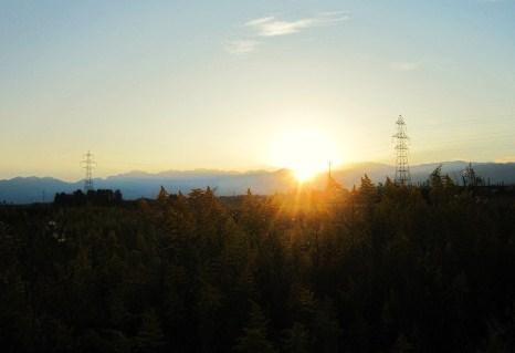 霜降の日の夜明け