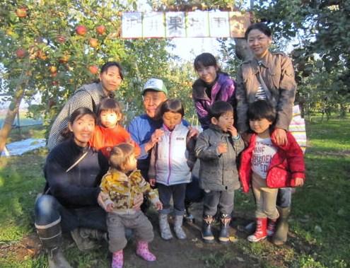 子育てリンゴ狩り・第3陣