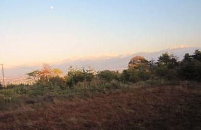 立山の夕映え
