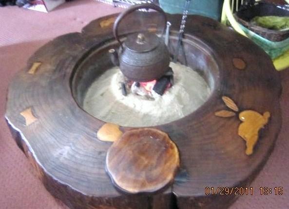 火鉢の炭火