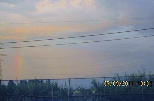 梅雨明けの虹