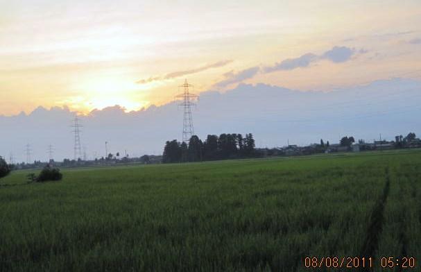 雲の峰から日の出