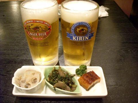 海茶屋・生ビール