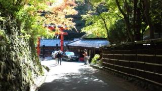 愛宕寺念仏寺から化野念仏寺への街並みあ
