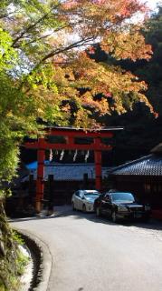 愛宕寺念仏寺から化野念仏寺への街並みい