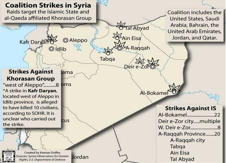 米のシリア空爆初日