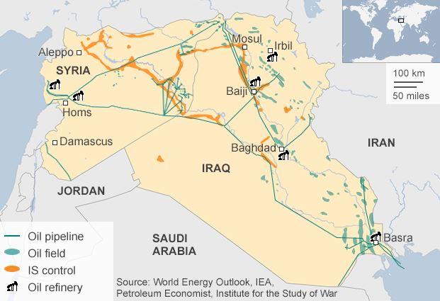 シリア空爆と石油パイプライン_Sep 25_BBC