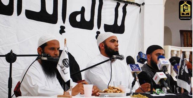 チュニジアのアンサール・シャリーアの黒旗・白旗