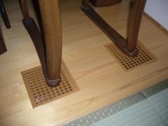 和室のガラリ椅子の足
