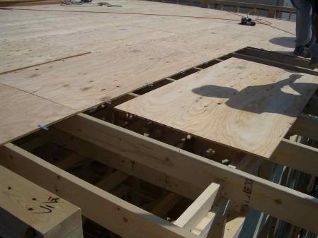 屋根合板組