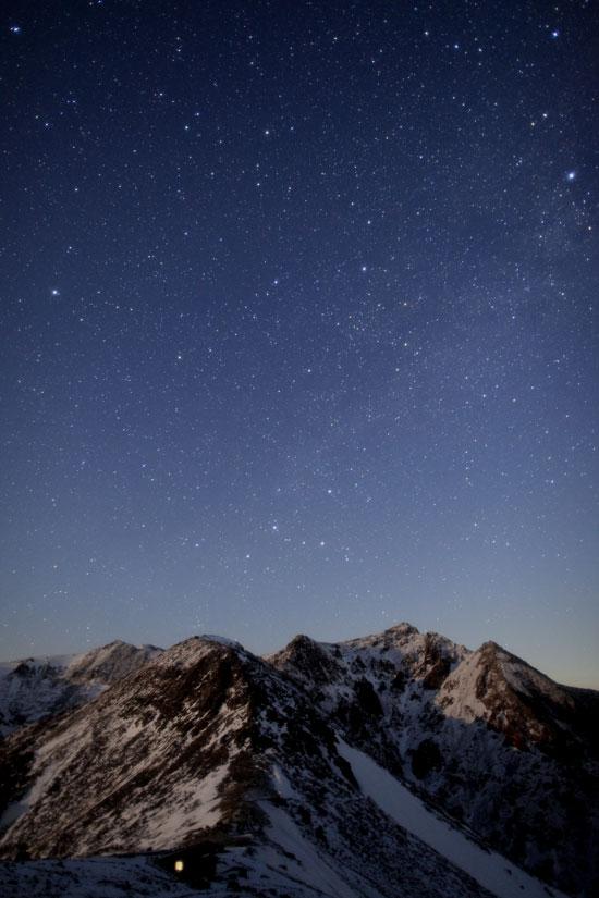 那須連山の星々