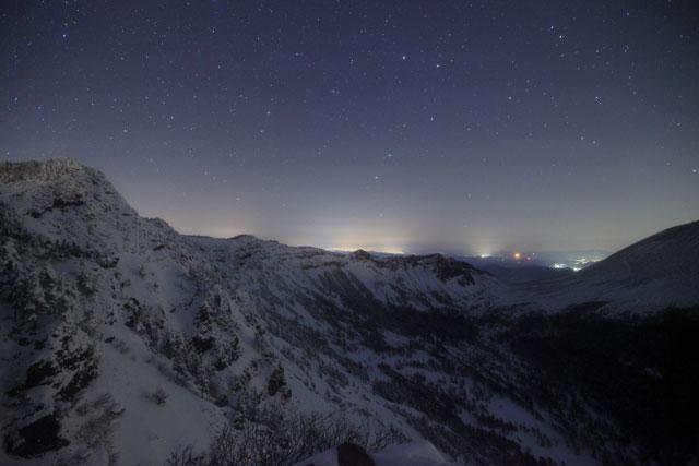 外輪山と星
