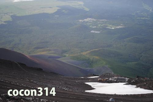 富士登山8合目-頂上