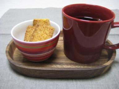 コーヒーとホームパイ