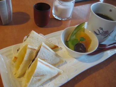 福寿堂秀信の茶寮「季」のモーニングセット