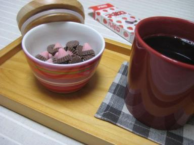アポロチョコとコーヒー