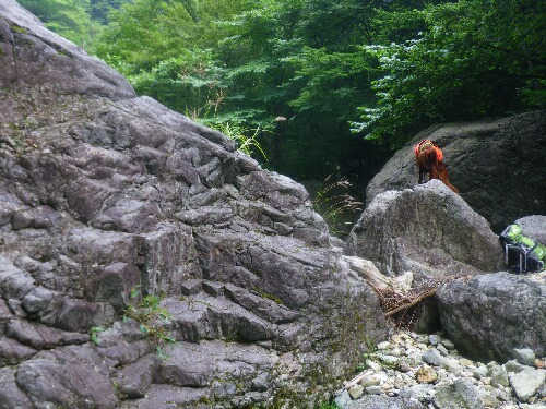標高715mからの沢登り