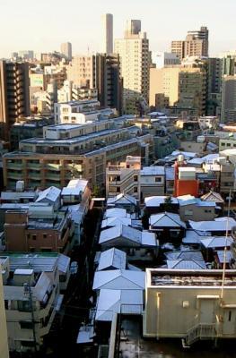 都心の雪景色