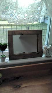 木製フレーム鏡