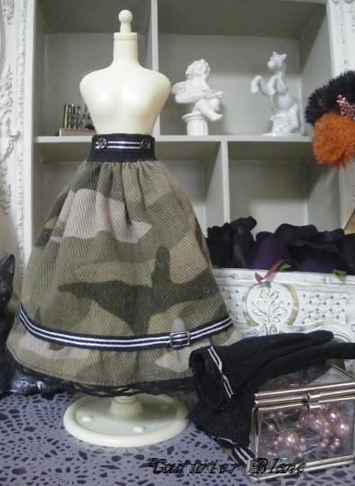 カムフラ柄スカート